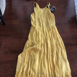 Lulus Yellow Maxi Dress. Size s